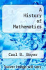 cover of A History of Mathematics (1st edition)