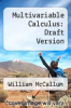 cover of Multivariable Calculus: Draft Version