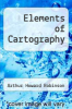 cover of Elements of Cartography (5th edition)