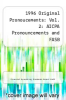 cover of 1996 Original Pronoucements: Vol. 2: AICPA Pronouncements and FASB Interpretations, Concepts Statements, and Technical Bulletin