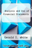 cover of Analysis and Use of Financial Statements (2nd edition)