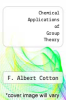 cover of Chemical Applications of Group Theory (2nd edition)