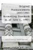 cover of Original Pronouncements 1997/1998: Accounting Standards as of June 1, 1997: AICPA Prounouncements, FASB Interpretations, FASB Concepts Statements, FASB (1st edition)