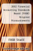 cover of 2002 Financial Accounting Standards Board (FASB) Original Pronouncements (1st edition)