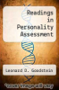cover of Readings in Personality Assessment ( edition)