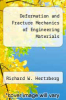 cover of Deformation and Fracture Mechanics of Engineering Materials