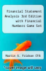 cover of Financial Statement Analysis 3rd Edition with Financial Numbers Game Set (3rd edition)