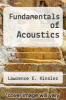 cover of Fundamentals of Acoustics (2nd edition)