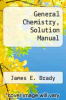 cover of General Chemistry, Solution Manual (5th edition)