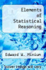 cover of Elements of Statistical Reasoning (3rd edition)