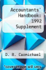 cover of Accountants` Handbook: 1992 Supplement (7th edition)