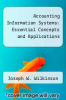 cover of Accounting Information Systems: Essential Concepts and Applications (2nd edition)