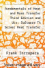 cover of Fundamentals of Heat and Mass Transfer Third Edition and Uts: Software Tk Solver Heat Transfer