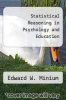 cover of Statistical Reasoning in Psychology and Education (2nd edition)