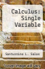 cover of Calculus: Single Variable (6th edition)