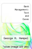 cover of Bank Management: Text and Cases (3rd edition)