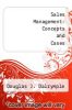 cover of Sales Management: Concepts and Cases (3rd edition)