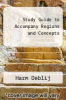 cover of Study Guide to Accompany Regions and Concepts (5th edition)