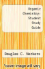 cover of Organic Chemistry: Student Study Guide