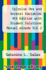 cover of Calculus One and Several Variables 9th Edition with Student Solutions Manual eGrade SLG 2 Term and Cliffs Trigonometry Set (9th edition)