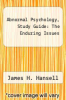cover of Abnormal Psychology, Study Guide: The Enduring Issues