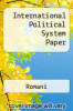 cover of International Political System Paper ( edition)