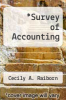 cover of Survey of Accounting (2nd edition)