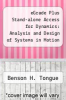 cover of eGrade Plus Stand-alone Access for Dynamics: Analysis and Design of Systems in Motion 1st Edition (1-Term)
