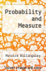 cover of Probability and Measure (2nd edition)