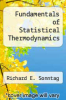 cover of Fundamentals of Statistical Thermodynamics ( edition)