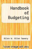 cover of Handbook of Budgeting (2nd edition)