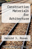 cover of Construction Materials for Achitecture
