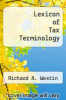 cover of Lexicon of Tax Terminology