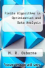 cover of Finite Algorithms in Optimization and Data Analysis