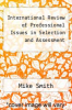 cover of International Review of Professional Issues in Selection and Assessment (1st edition)