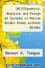 cover of (WCS)Dynamics: Analysis and Design of Systems in Motion Binder Ready without Binder