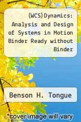 Cover of (WCS)Dynamics: Analysis and Design of Systems in Motion Binder Ready without Binder  (ISBN 978-0471951858)