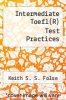 cover of Intermediate Toefl(R) Test Practices