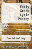 cover of Early Greek Lyric Poetry