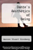 cover of Dante`s Aesthetics of Being
