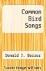 cover of Common Bird Songs