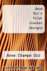 cover of Anne Orr`s Filet Crochet Designs