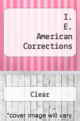 Cover of I. E. American Corrections  (ISBN 978-0495003151)