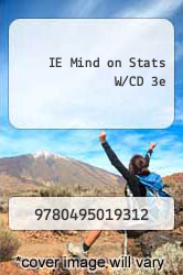 Cover of IE Mind on Stats W/CD 3e  (ISBN 978-0495019312)