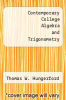 cover of Contemporary College Algebra and Trigonometry (3rd edition)