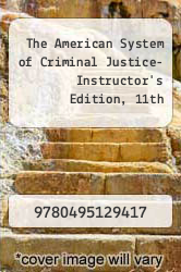 Cover of The American System of Criminal Justice- Instructor