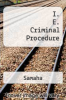 cover of I. E. Criminal Procedure