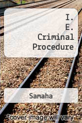 Cover of I. E. Criminal Procedure EDITIONDESC (ISBN 978-0495382119)