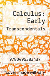 Calculus: Early Transcendentals by N and A - ISBN 9780495383437