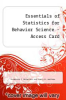 cover of Essentials of Statistics for Behavior Science - Access Card